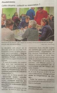 Article ouest france café citoyen 2 décembre 2018